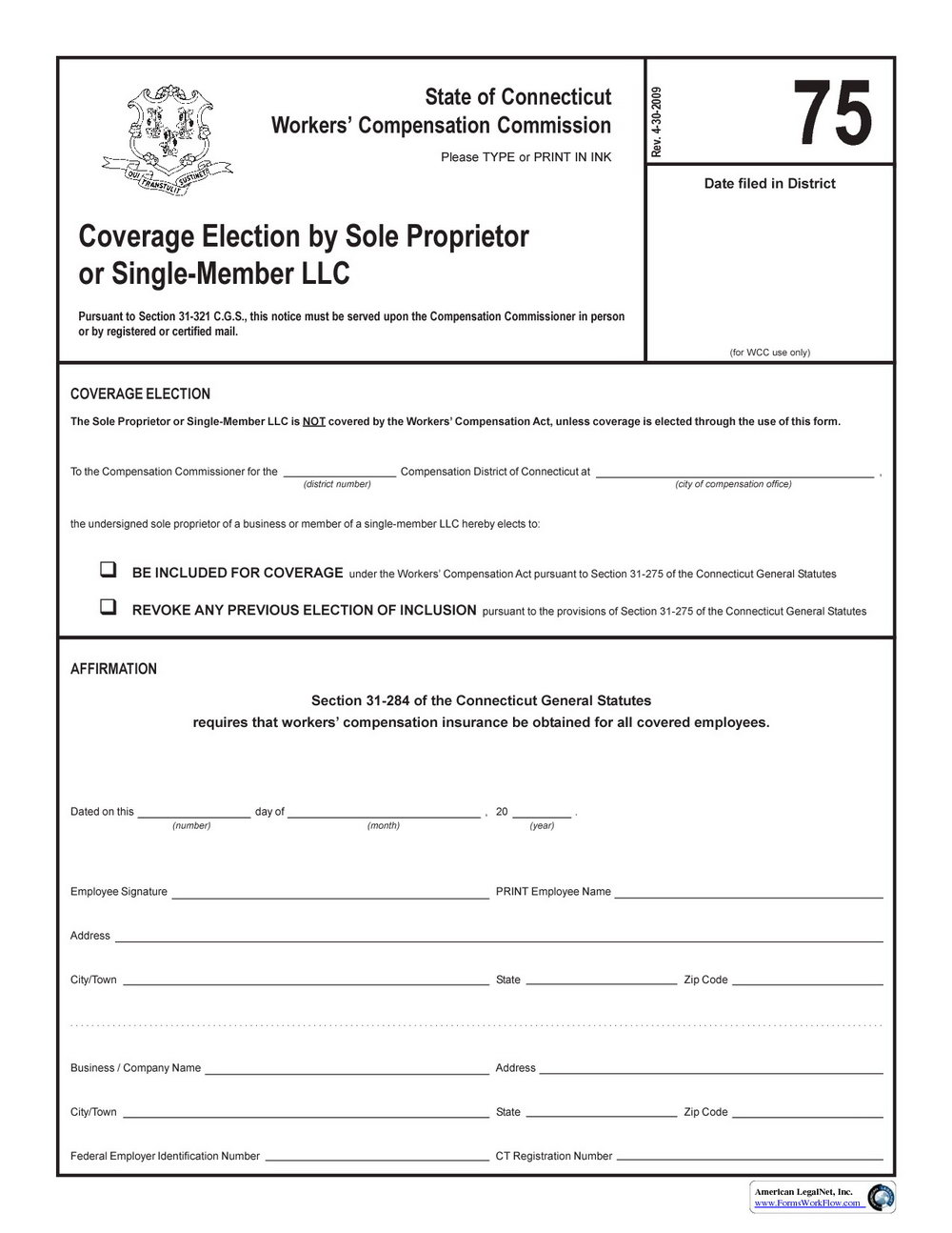 Workers Compensation Waiver Form Indiana