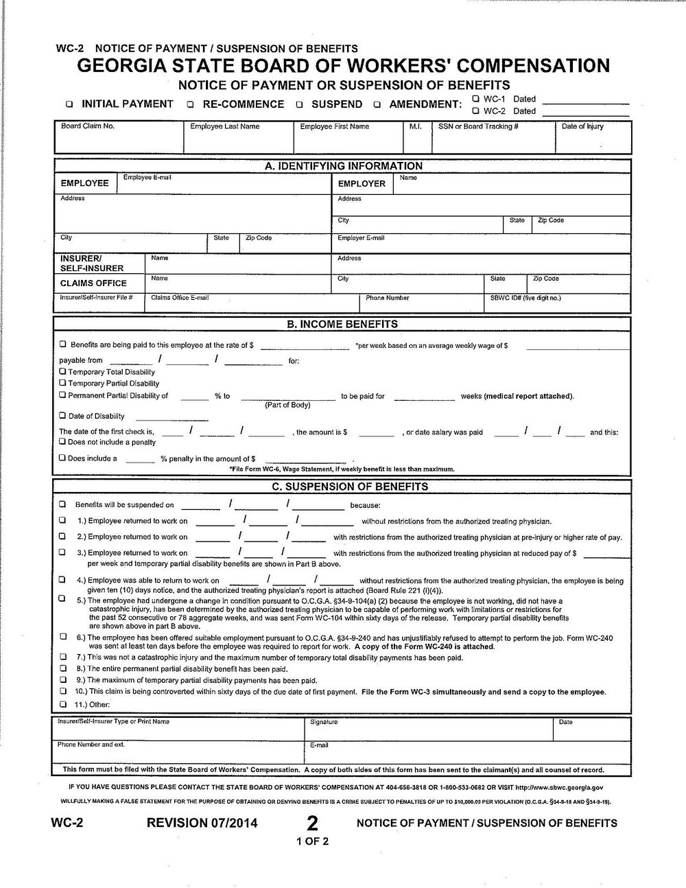 Workmans Comp Forms Ny