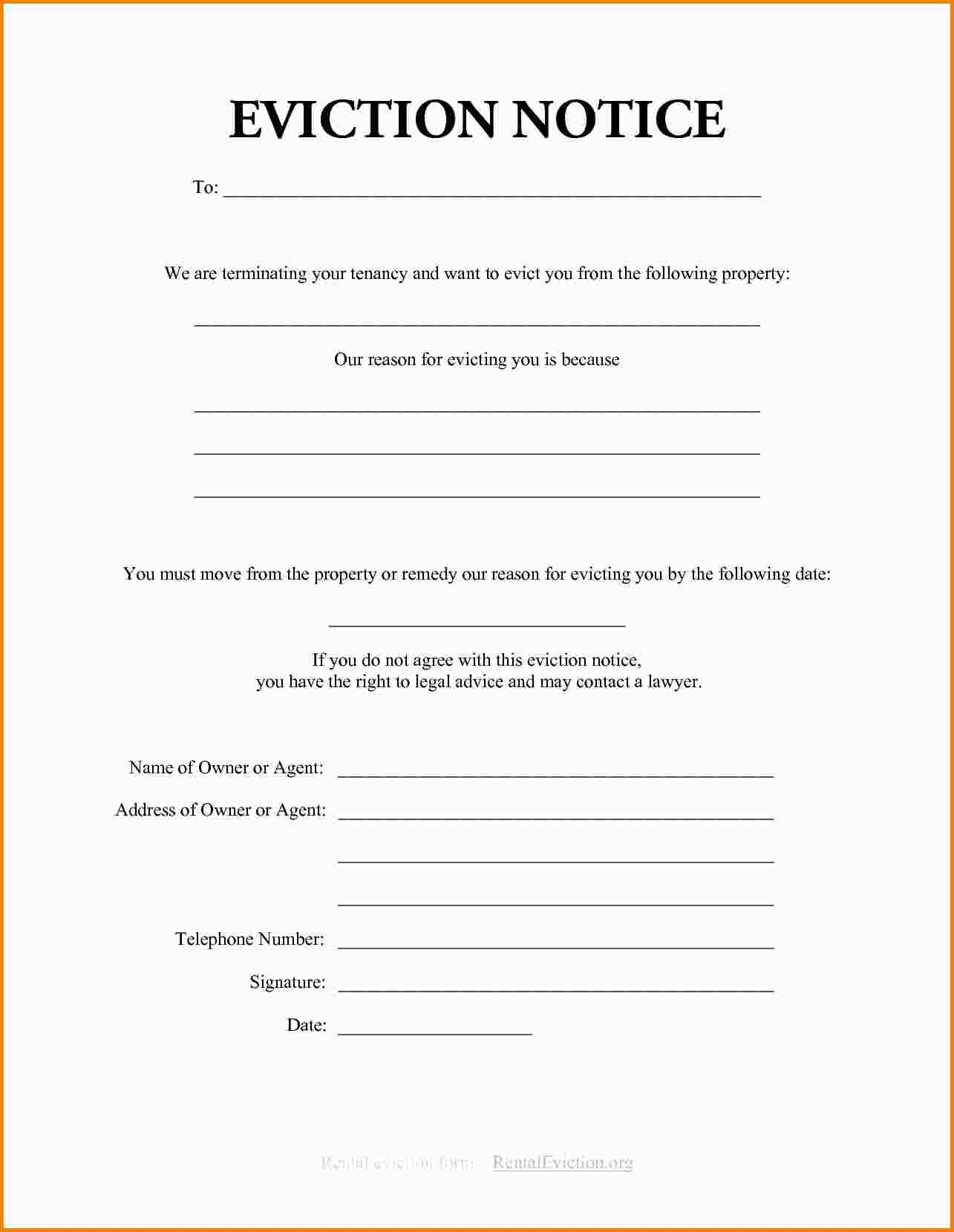 California Eviction Notice Form Pdf