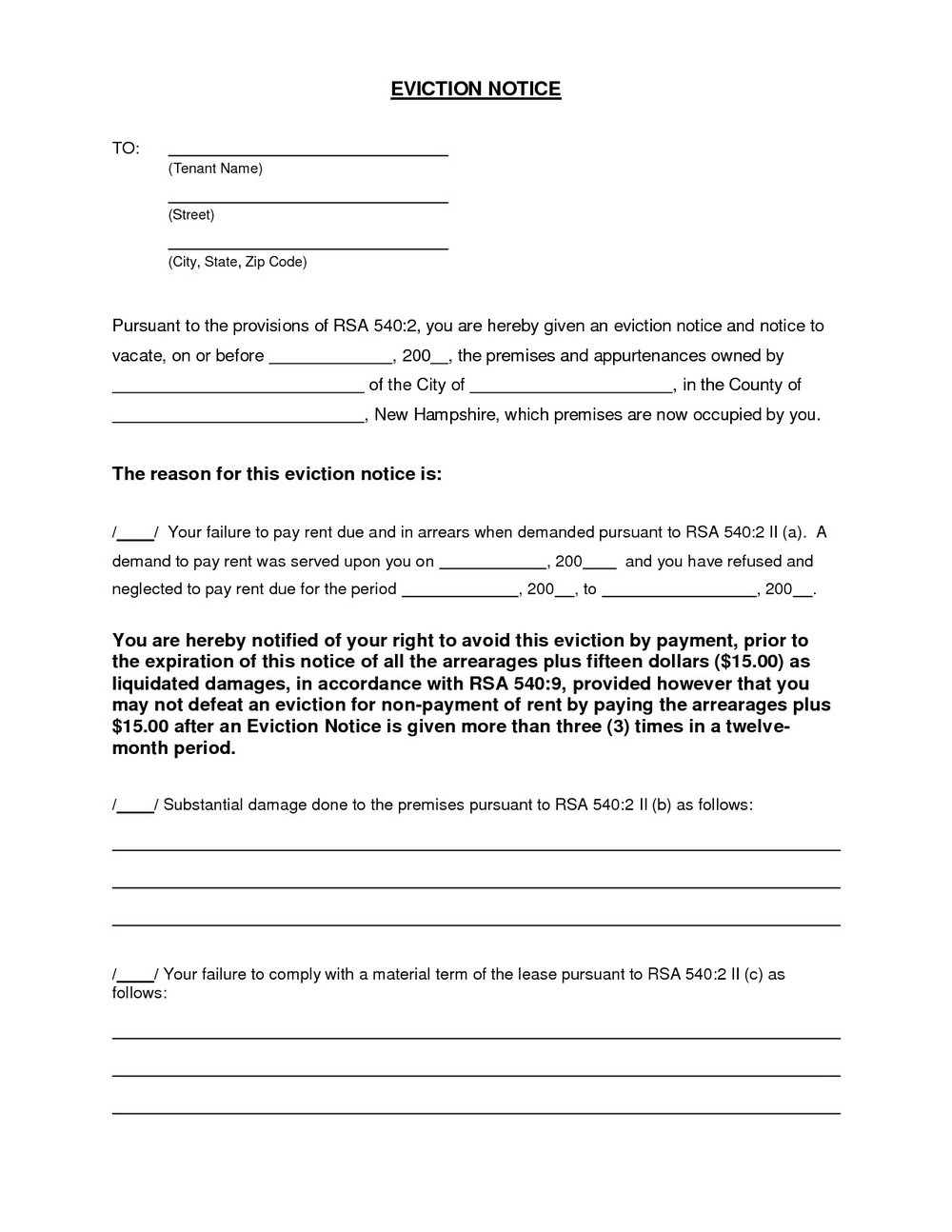 Florida Eviction Forms 3 Day Notice