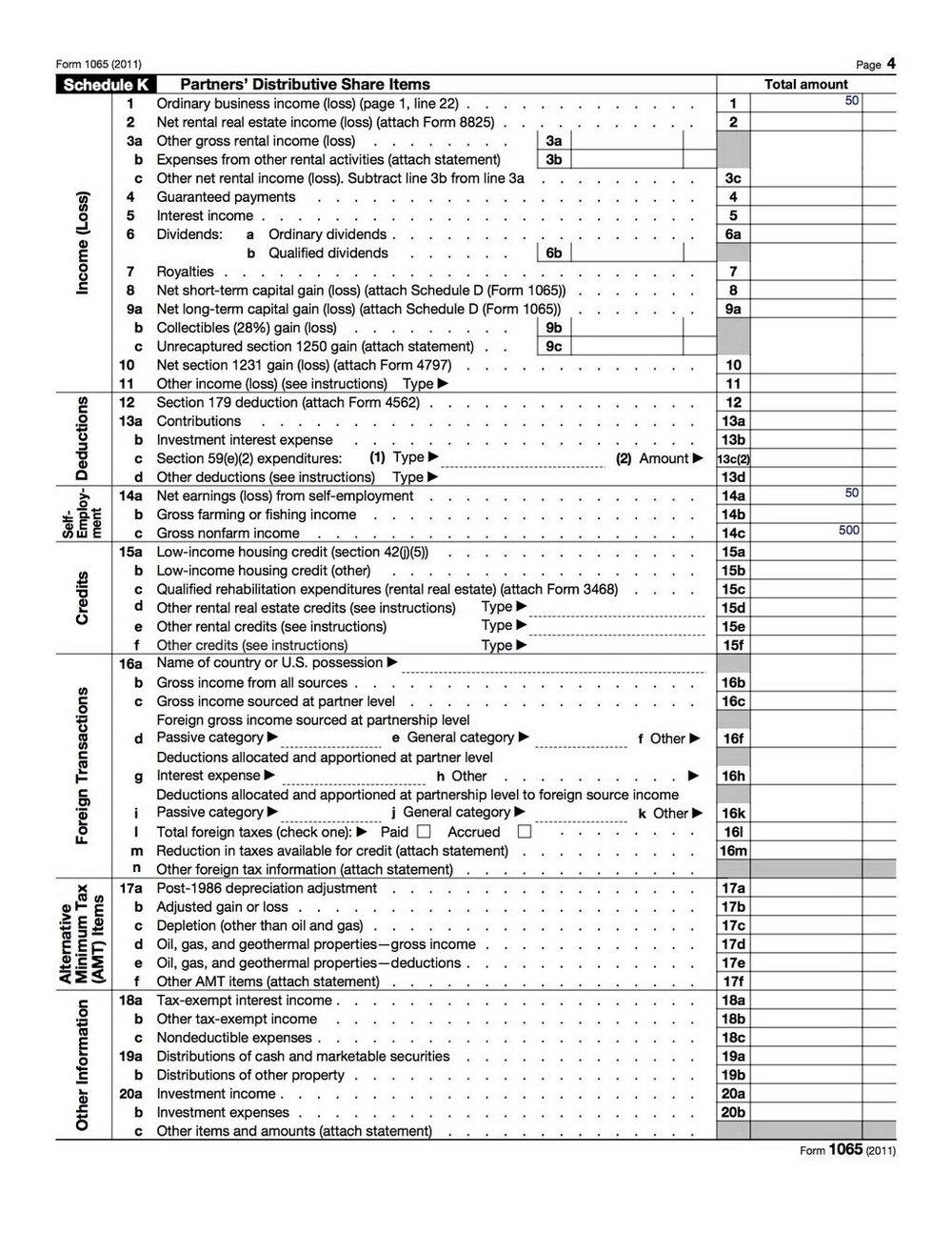 Form 1065 Online Preparation
