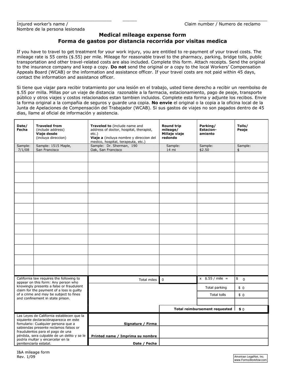 Workers Comp Claim Form Indiana