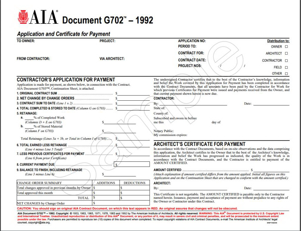 Aia G702 Form