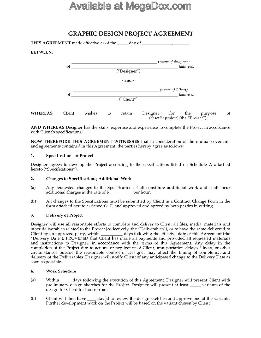 Graphic Design Contracts And Forms