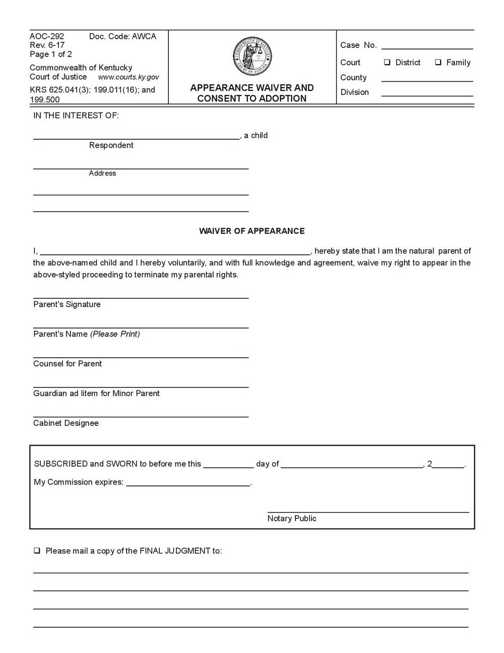Indiana Stepparent Adoption Forms