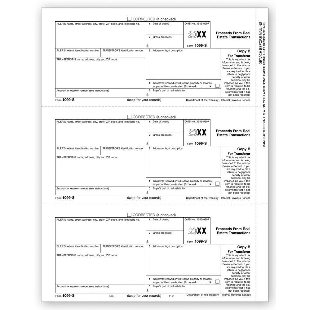 1099 S Tax Form