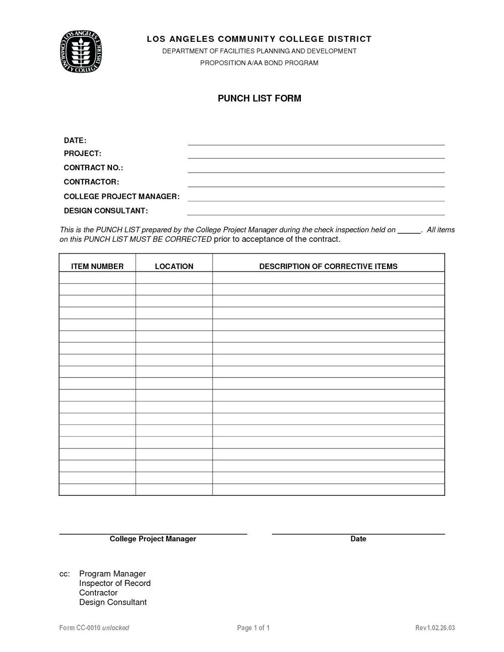 Construction Project Management Forms Templates