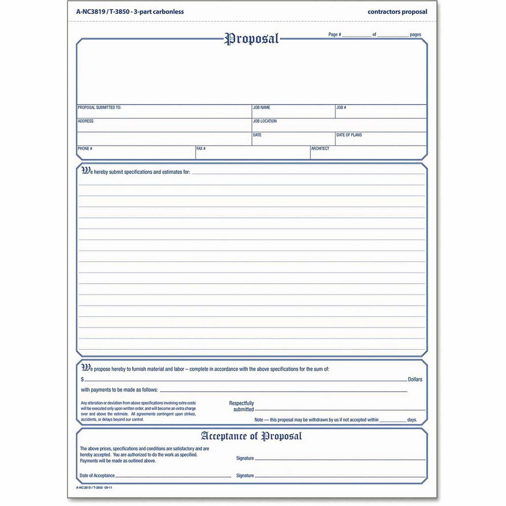 Free Proposal Form Template