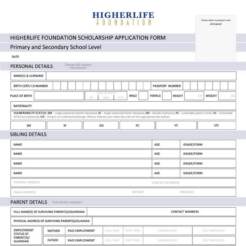 Mbe Application Form