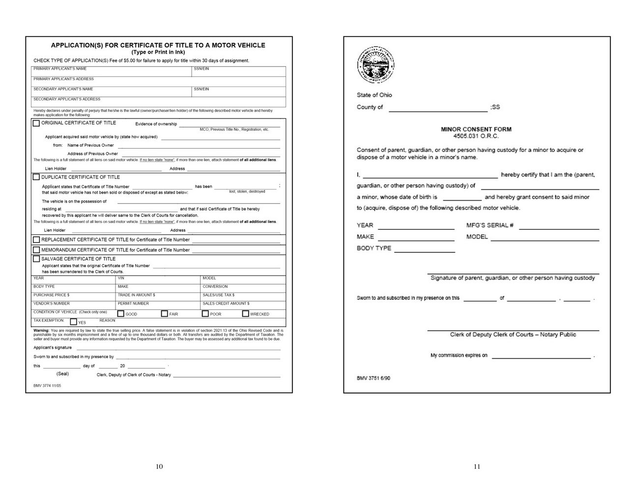 State Of Ohio Dissolution Forms