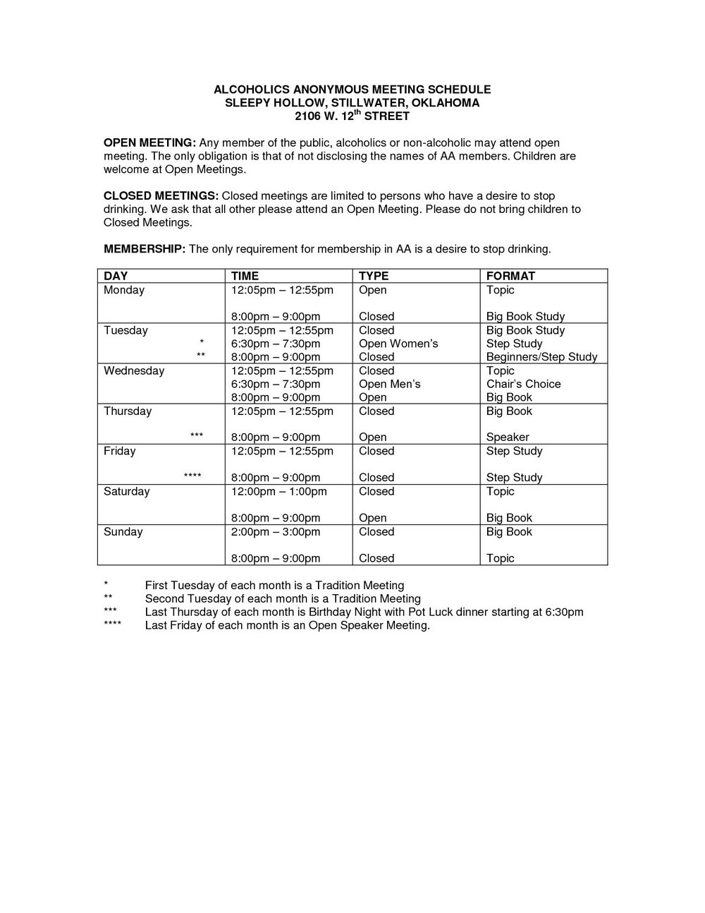 Alcoholics Anonymous 12 Step Worksheets