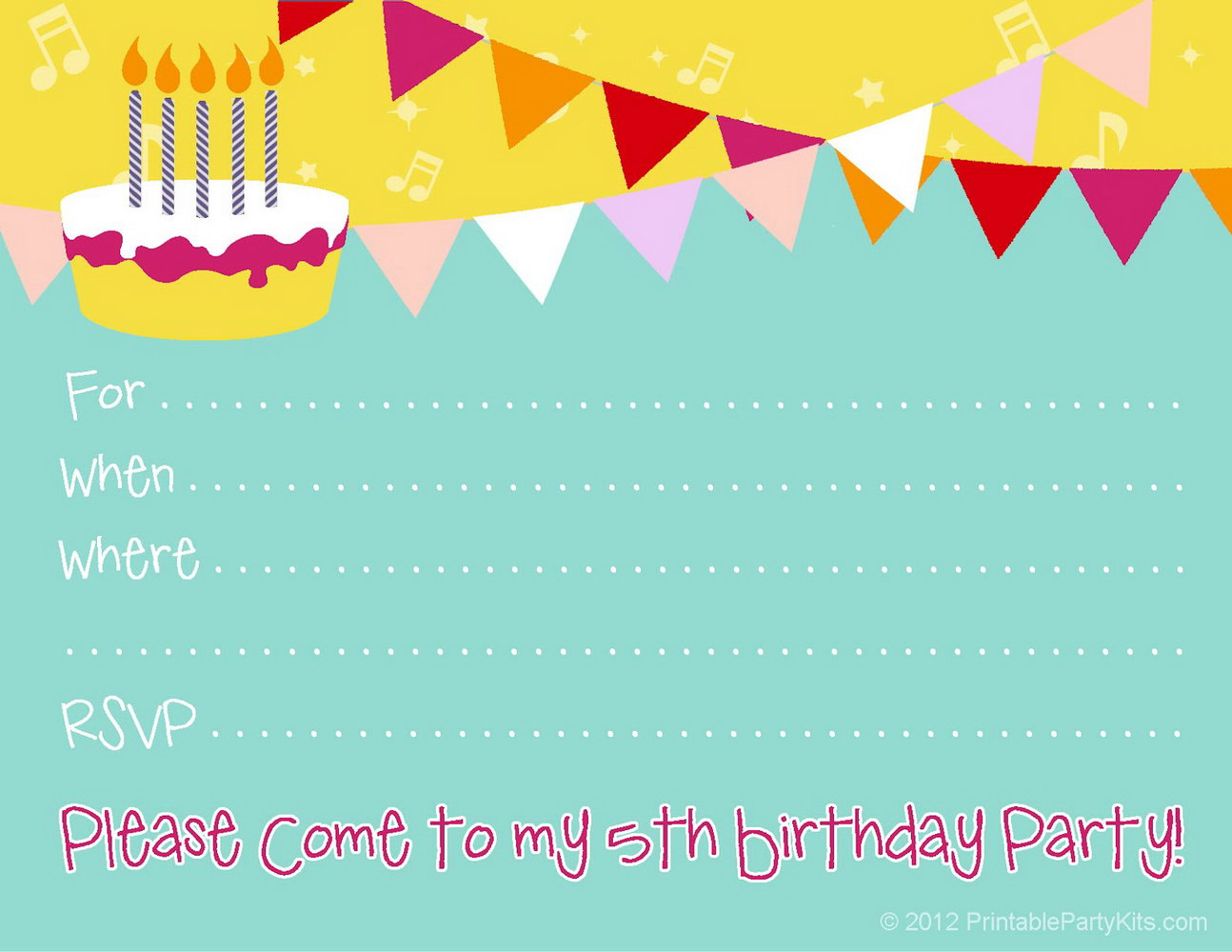 Birthday Party Invitation Template Powerpoint