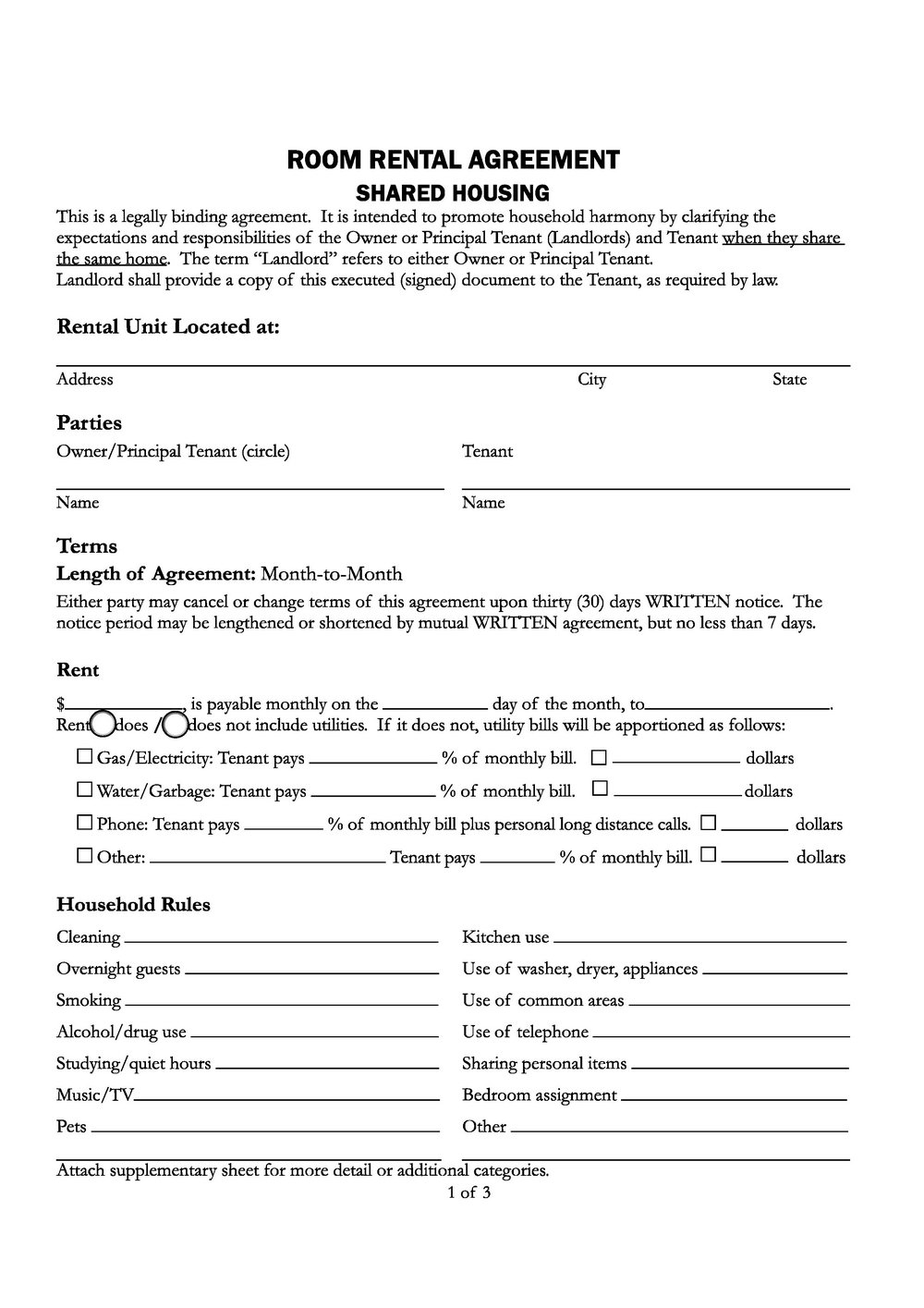 California Lease Agreement Form Pdf