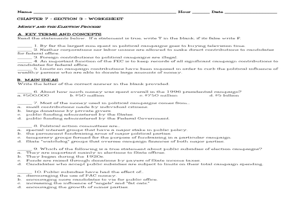 Chapter 7 Federal Income Tax Worksheet Answers