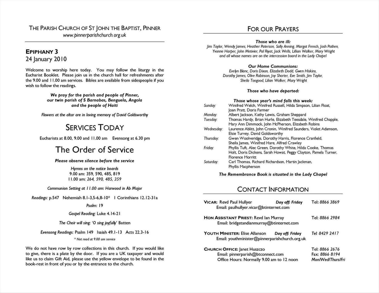 Christian Wedding Ceremony Program Template