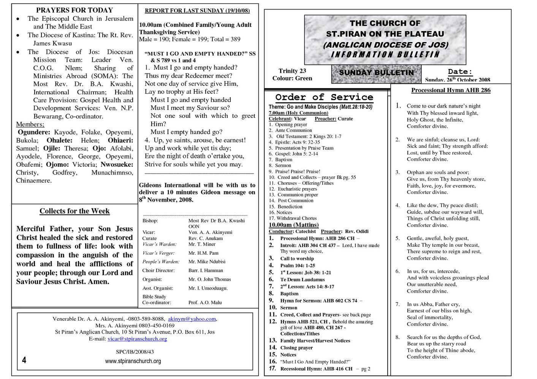 Church Bulletin Templates Indesign