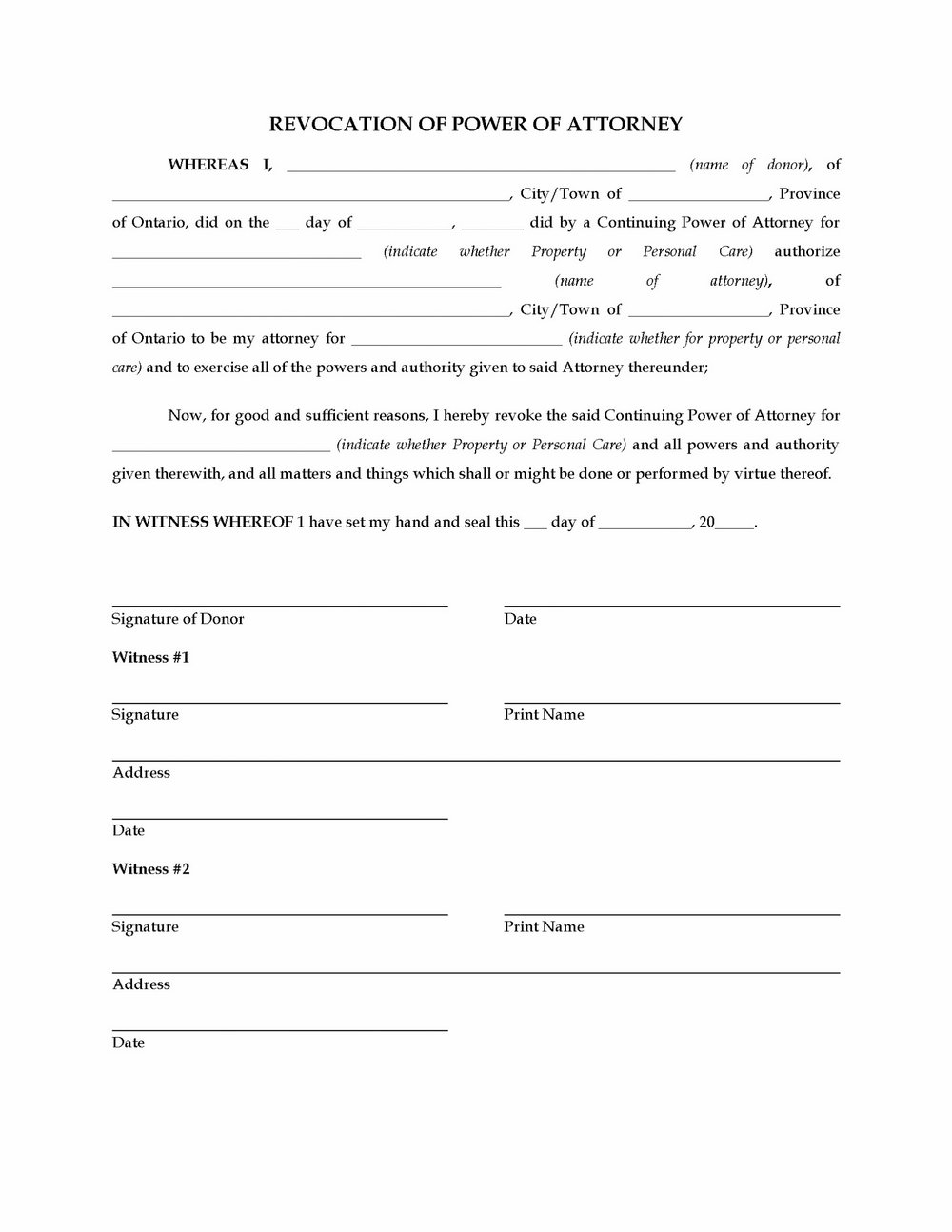 Durable Financial Power Of Attorney Form Nevada