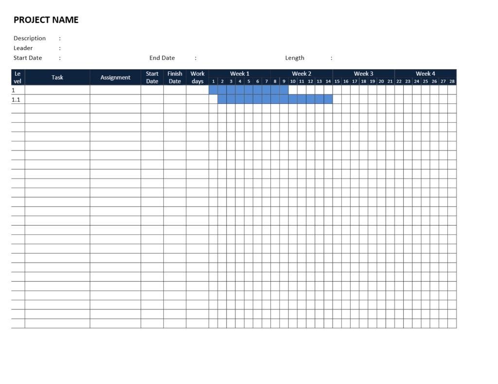 Excel Gantt Chart Template Monthly