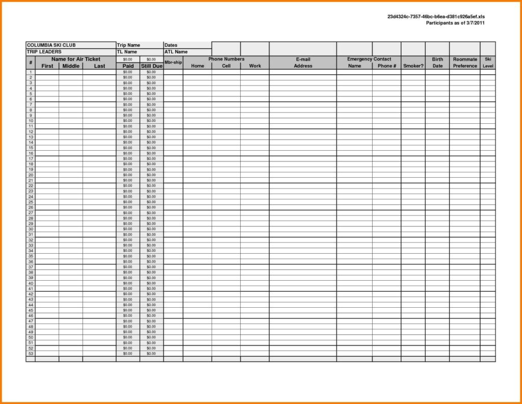 Excel Spreadsheet Template For Rental Property