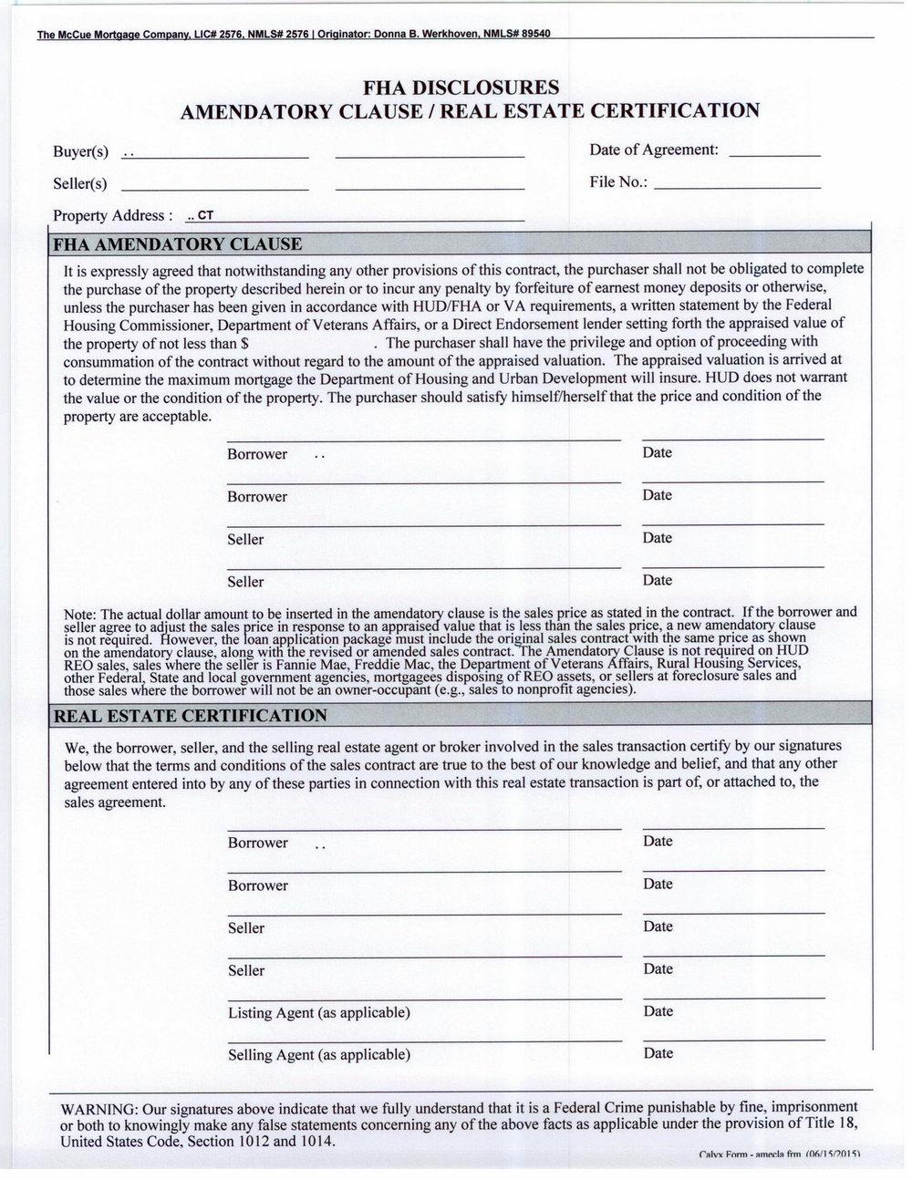 Fha Loan Application Form Pdf