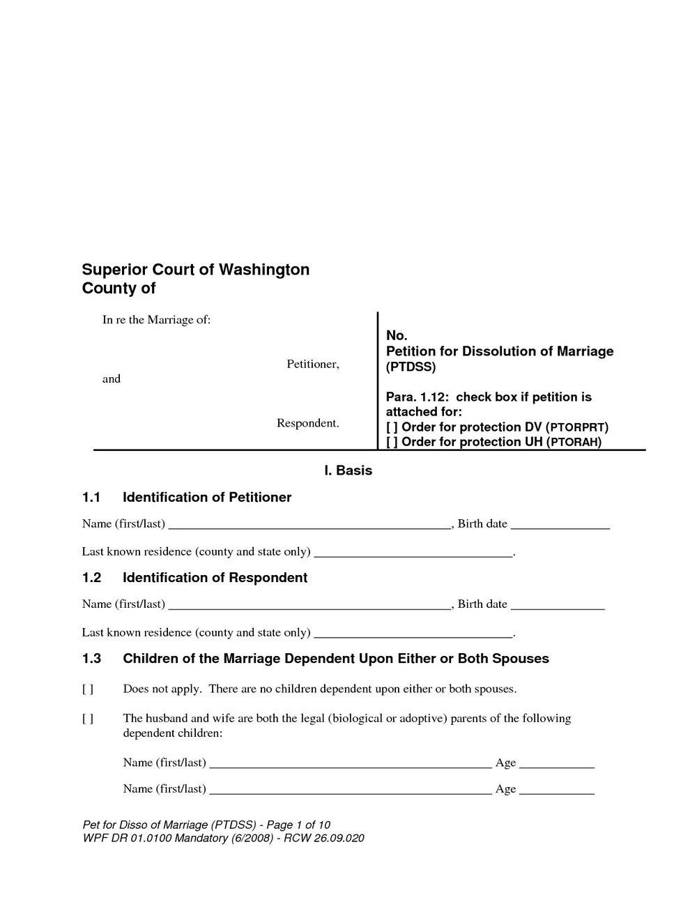 Final Decree Of Divorce Form Virginia