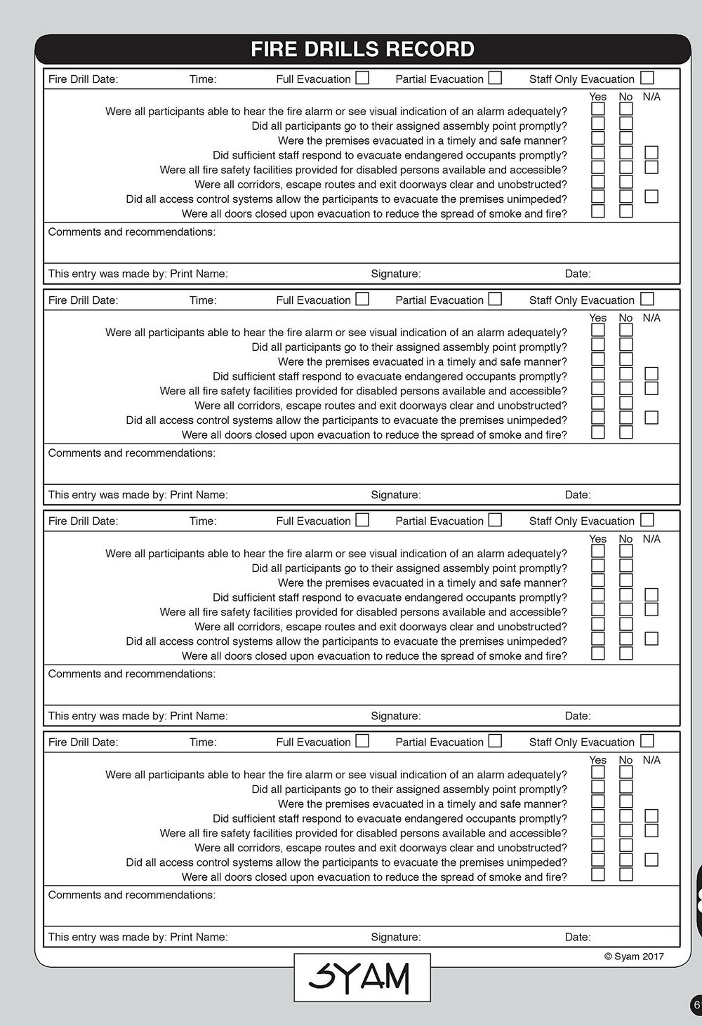 Fire Alarm System Inspection And Testing Form