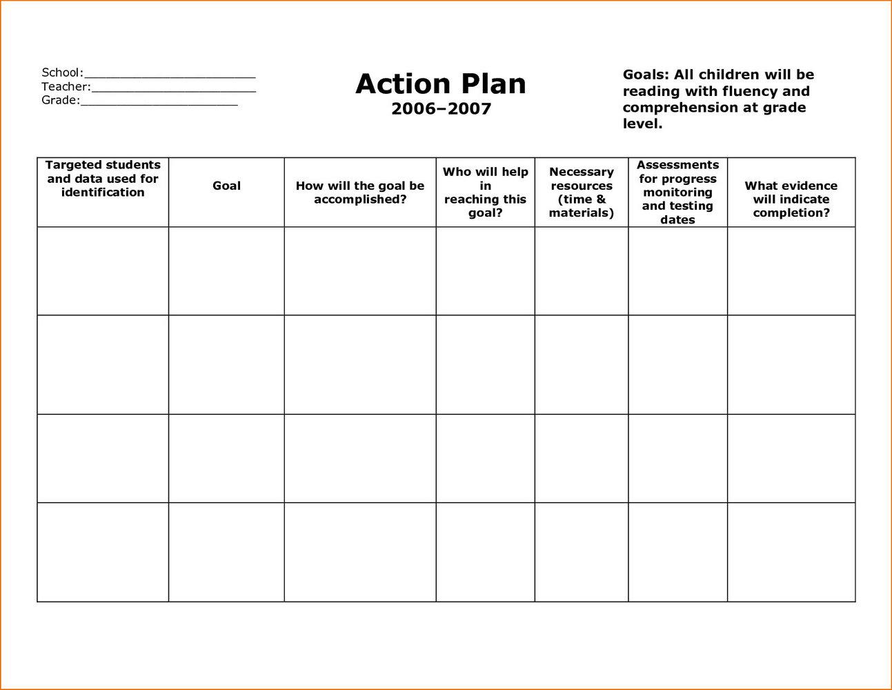 Free Corrective Action Plan Template
