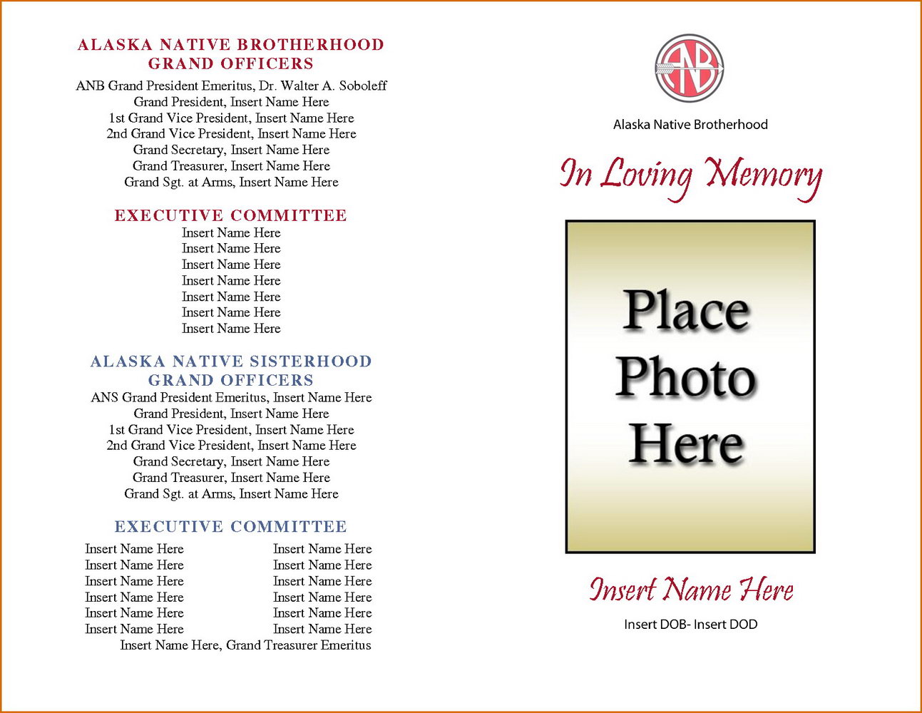 Free Funeral Program Template Download