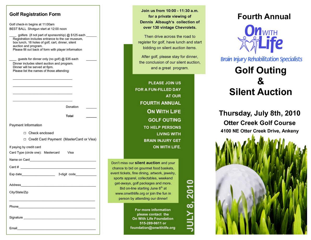 Free Golf Tournament Flyer Template Powerpoint