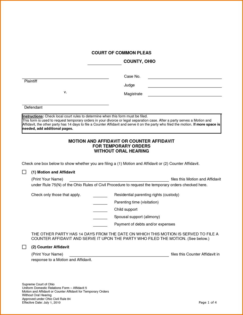 Free Legal Forms Massachusetts