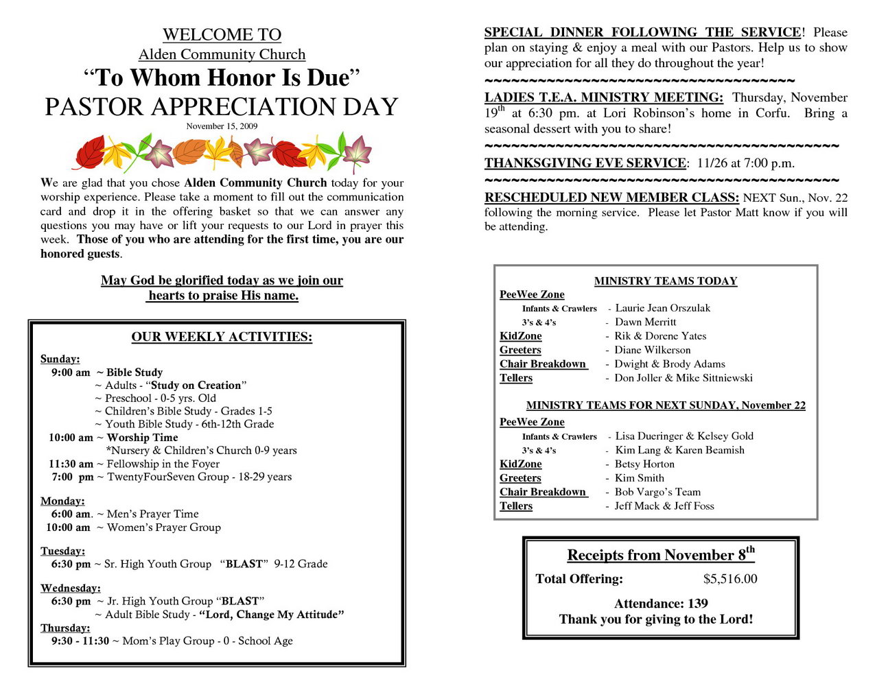 Free Pastor Anniversary Program Templates
