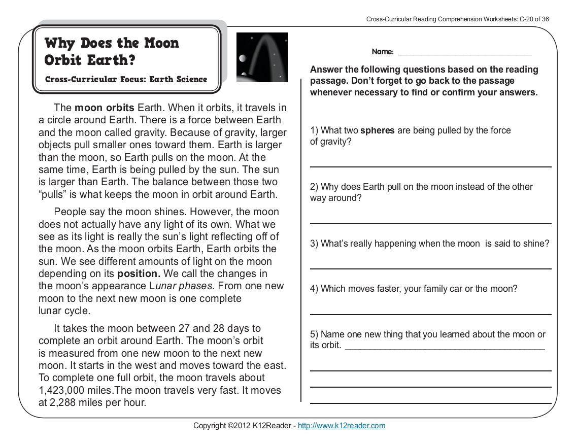 Free Printable Science Reading Comprehension Worksheets