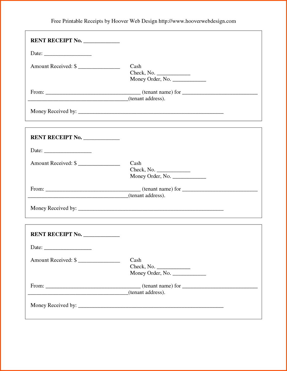 Free Rent Invoice Template Word