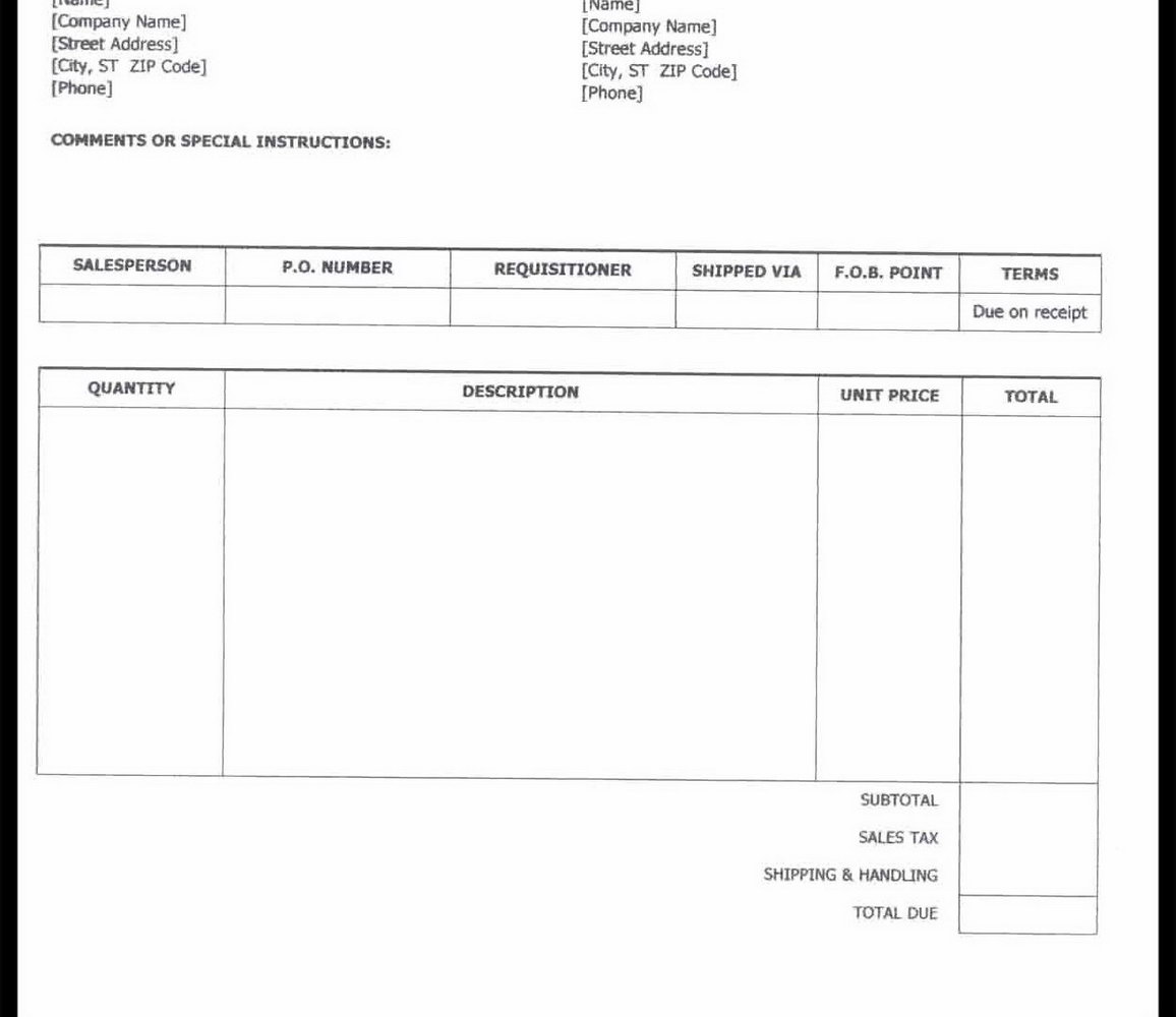 Freelance Invoice Template Google Docs
