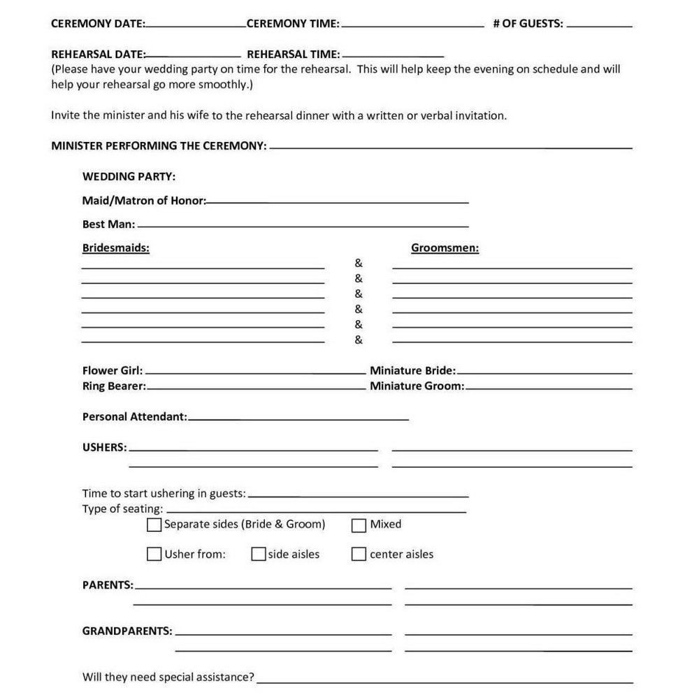 Funeral Planning Worksheet Free