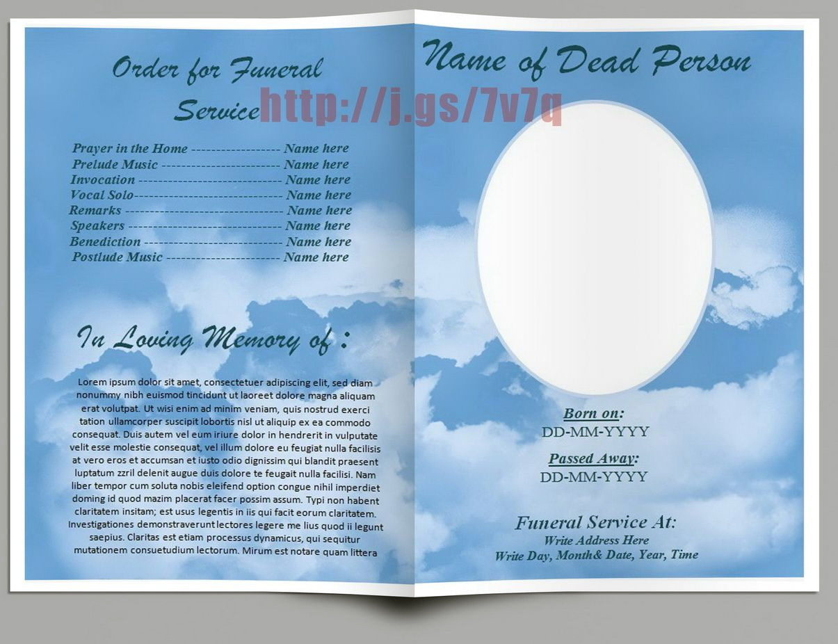 Funeral Program Template Background
