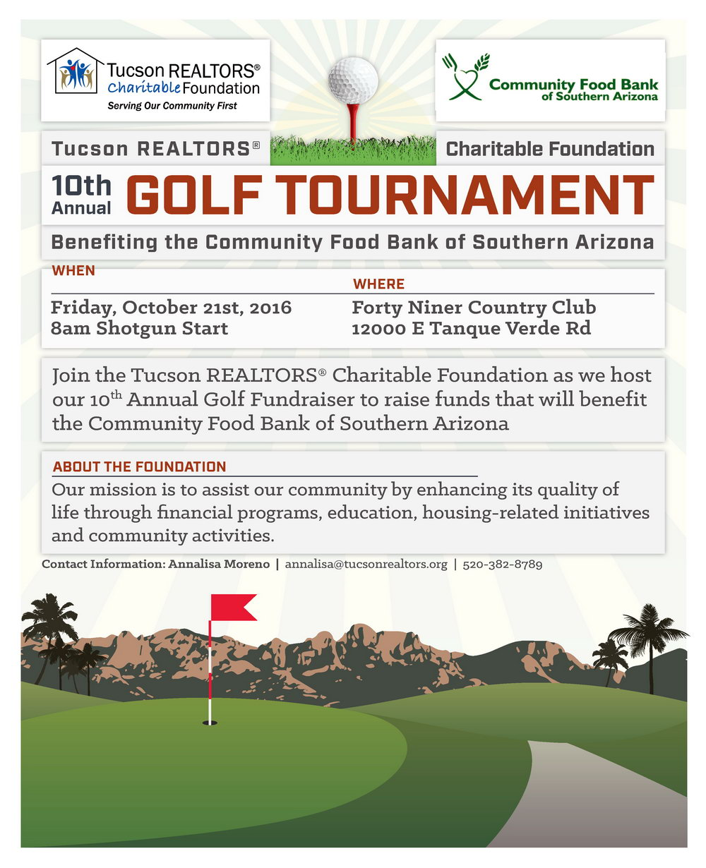 Golf Tournament Fundraiser Flyer Template