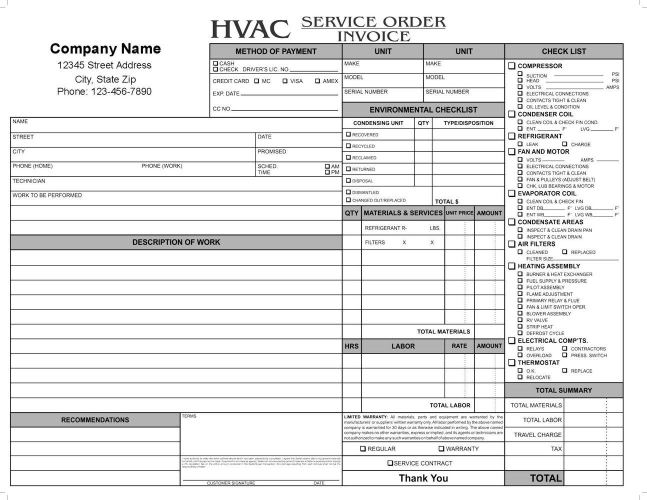 Hvac Forms Pdf
