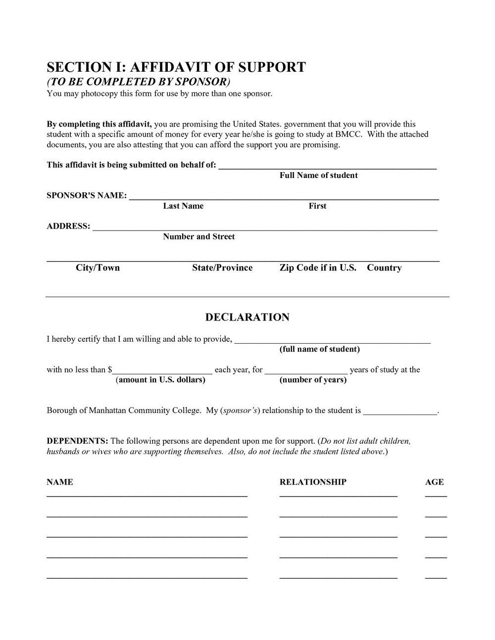 Judicial Affidavit Sample Form