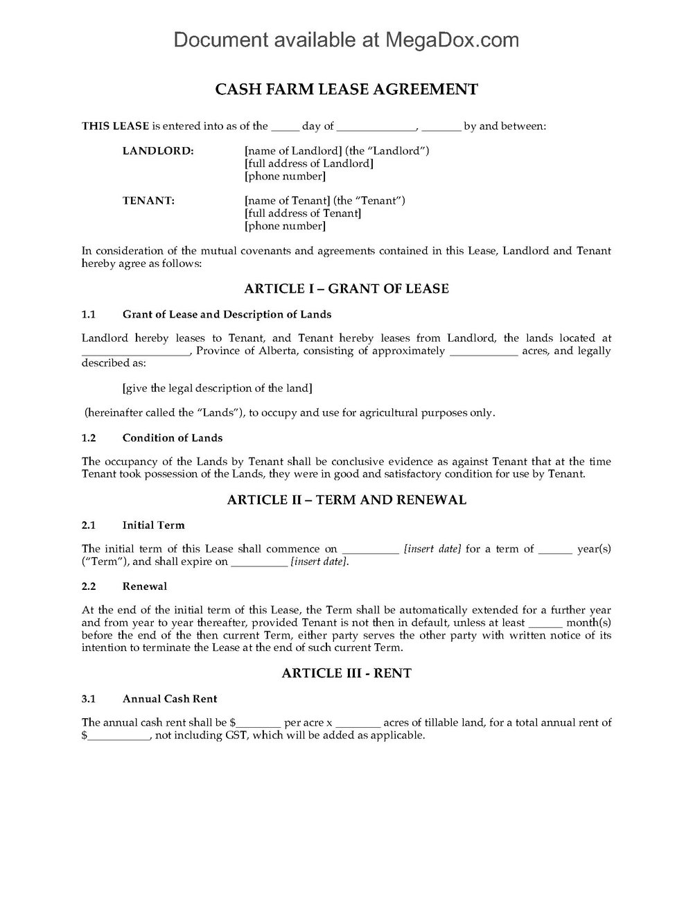Lease Common Law Virginia Form
