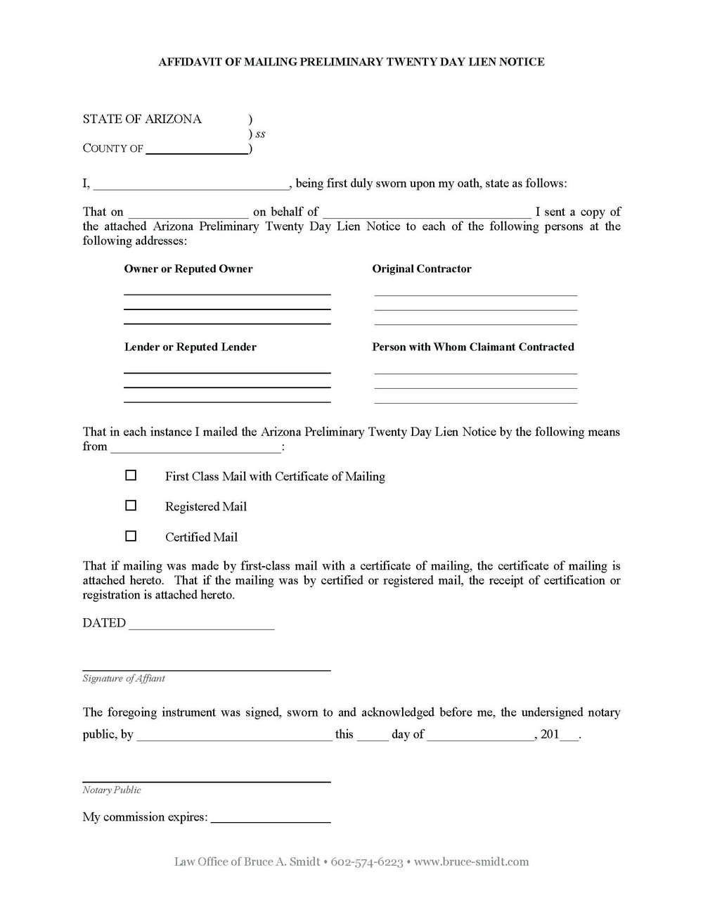 Mechanics Lien Texas Form Free