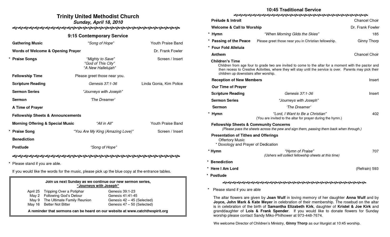 Modern Church Bulletin Templates