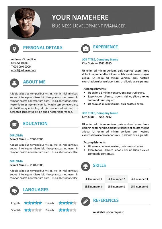 Modern Downloadable Resume Templates