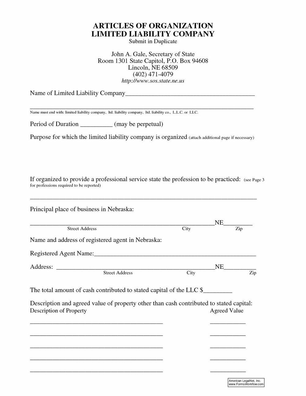 Nebraska Llc Forms