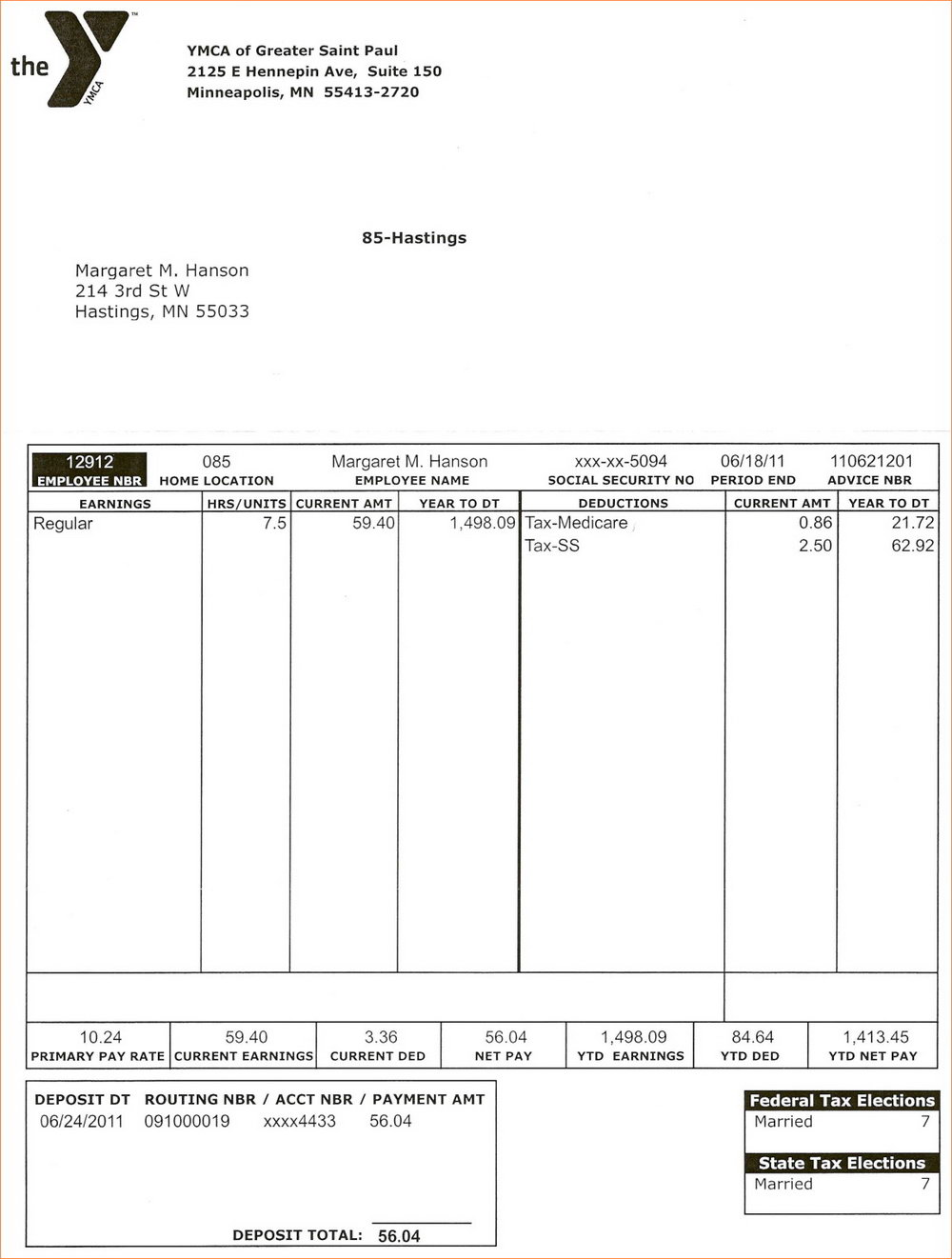 Paycheck Stub Template Free