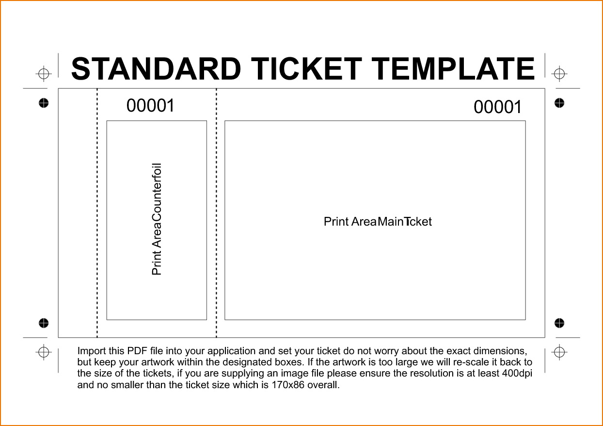 Raffle Ticket Templates With Numbers