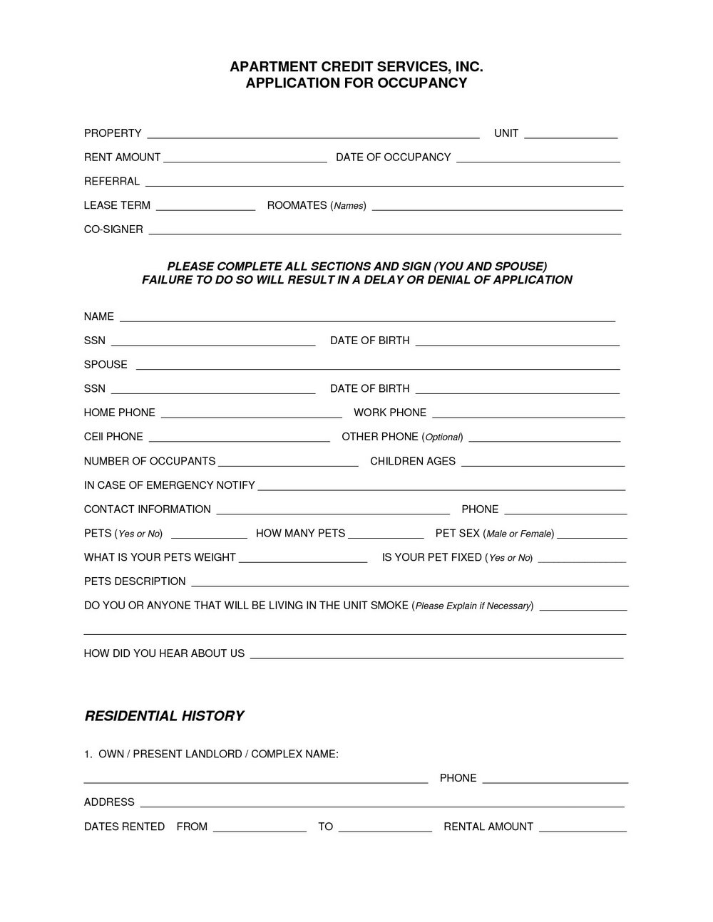 Residential Lease Renewal Form Ontario