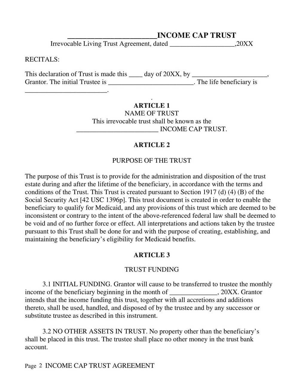 Revocable Living Trust Amendment Form California