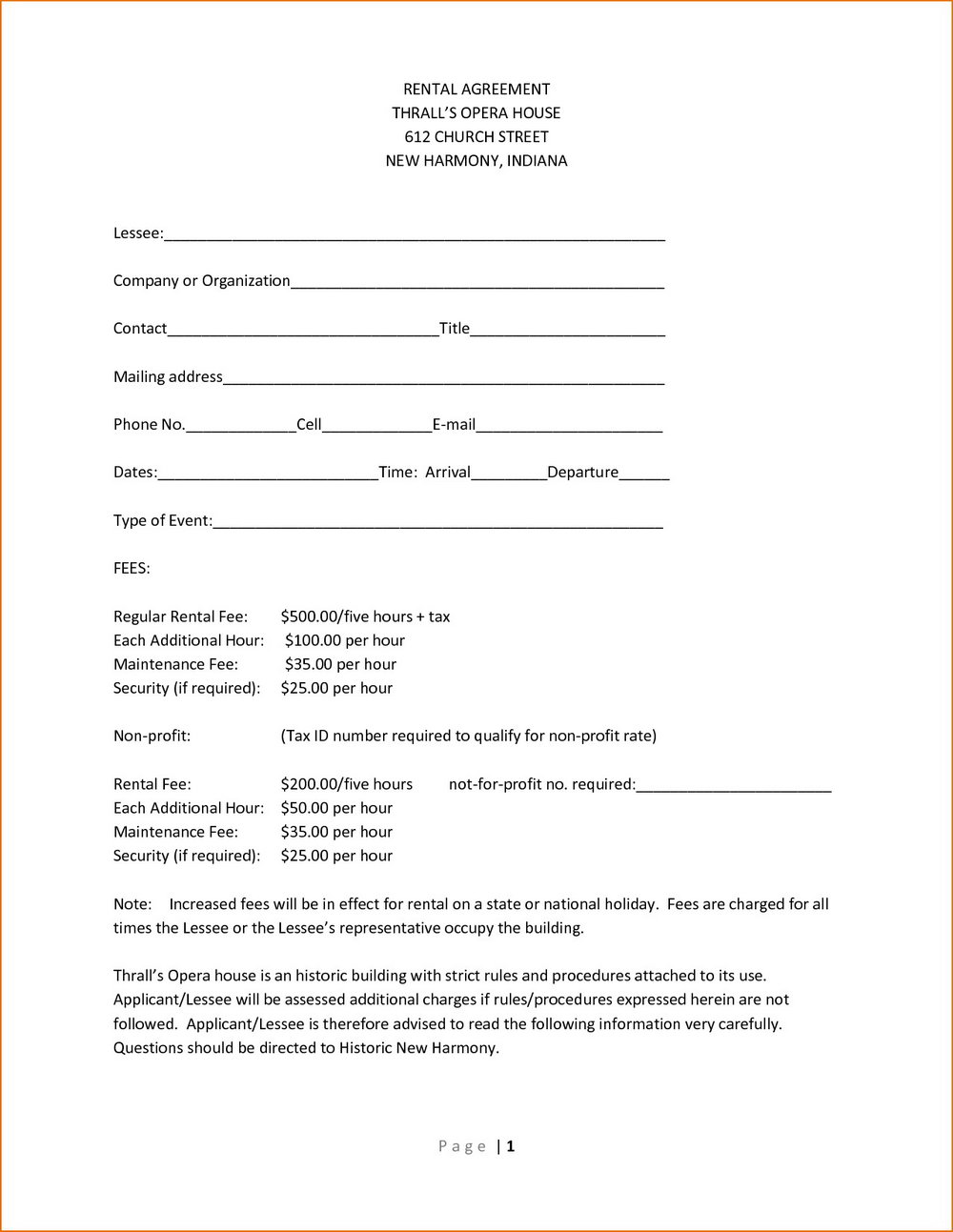 Simple House Rent Agreement Format