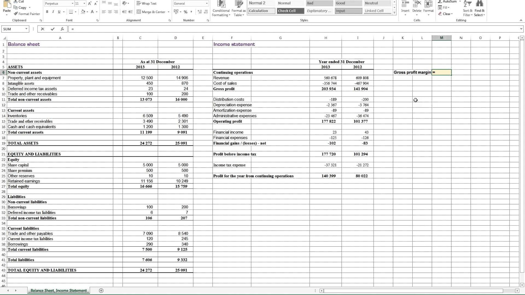 Simple Profit And Loss Template For Self Employed Excel
